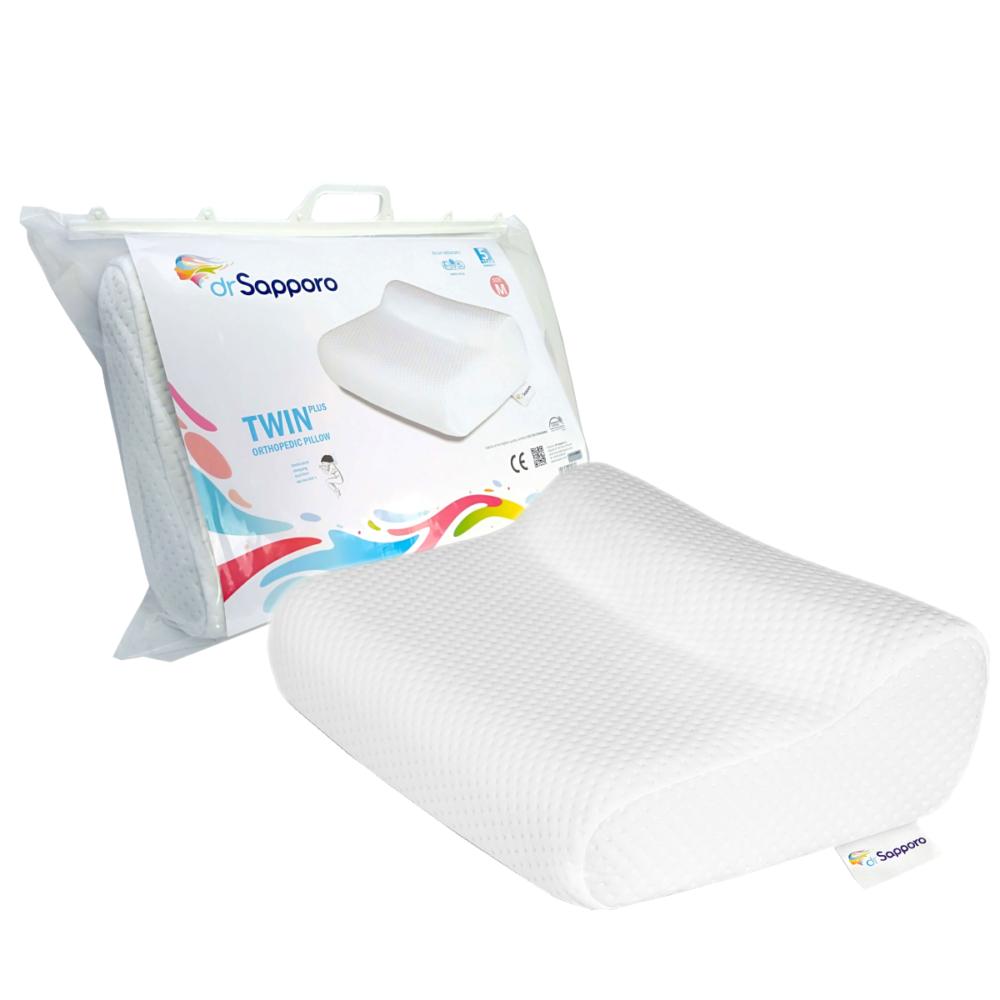 Idealna poduszka do spania na boku, od Dr Sapporo. Model Twin Plus w nowej odsłonie