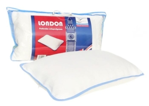 Na fotografii - poduszka do spania od Dr Sapporo model London. Idealna dla osób często zmieniających pozycje snu