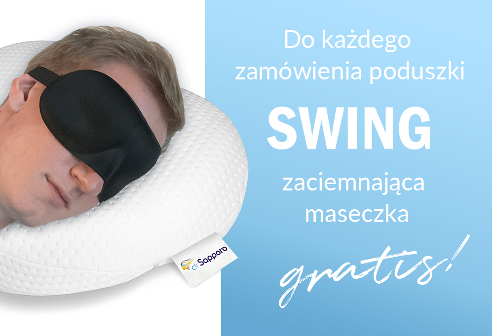 Maseczka gratis poduszka ortopedyczna swing memory dr sapporo