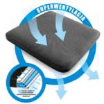 W siedzisku Ergo-Vent Plus zastosowaliśmy specjalną warstwę z poduszką, która jest napełniona powietrzem. Dzięki niej zwiększony jest komfort i wygoda