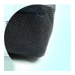 Boki oraz spód korektora postawy kręgosłupa zabezpieczone kodurą