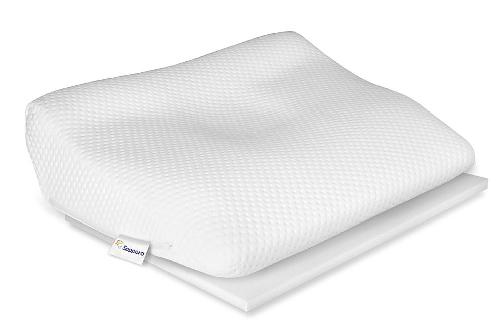 Poduszka ortopedyczna od Dr Sapporo, model Bossanova idealna do spania na brzuchu