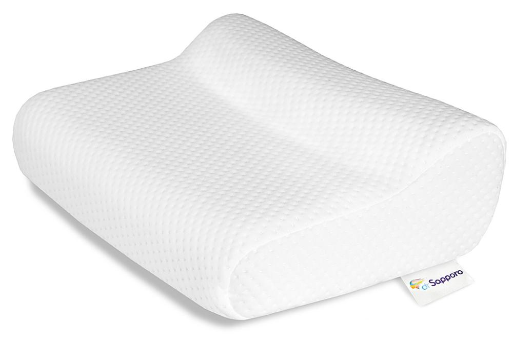 Poduszka profilowana do spania od Dr Sapporo. Poduszka JAZZ wykonana z pianki z pamięcią. Nowa tłoczona i bardzo wytrzymała poszewka