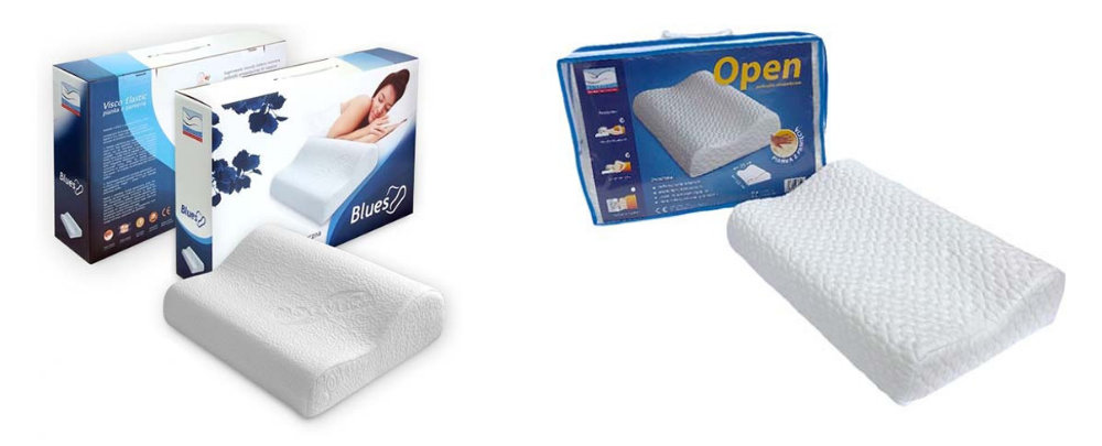 Poduszki ortopedyczne Blues i Open od Dr Sapporo