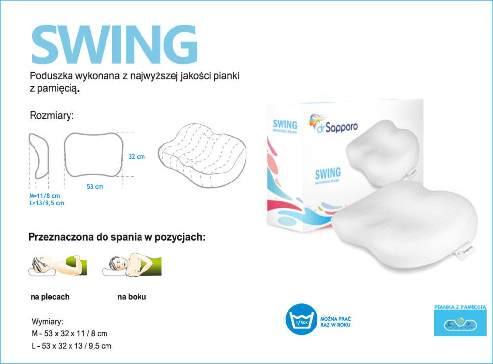 Opis poduszki Dr Sapporo model SWING Memory