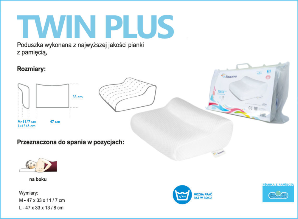 Nowa odsłona jednej z bardziej popularnych poduszek w ofercie dr Sapporo – poduszka Twin Plus