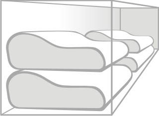 Obrazowe przedstawienie wytwarzanie poduszek metodą wycinania ich z bloku piankowego