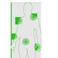 Zdjęcie pokazuje miejsca w których można stosować terapię urządzeniem przeciwbólowym PainGone