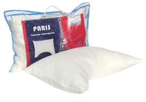 Foliowa torba oraz poduszki do spania od Dr Sapporo. Model Paris z pianki Memory