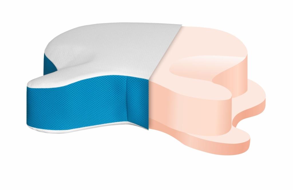 Warstwy poduszki CPAP przeznaczonej do spania w masce CPAP