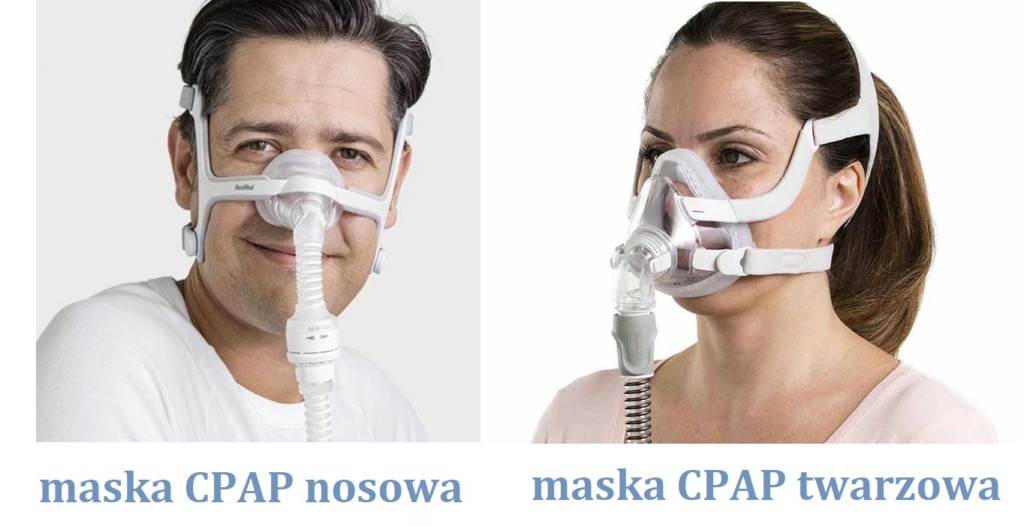 Maska CPAP nosowa i maska CPAP twarzowa